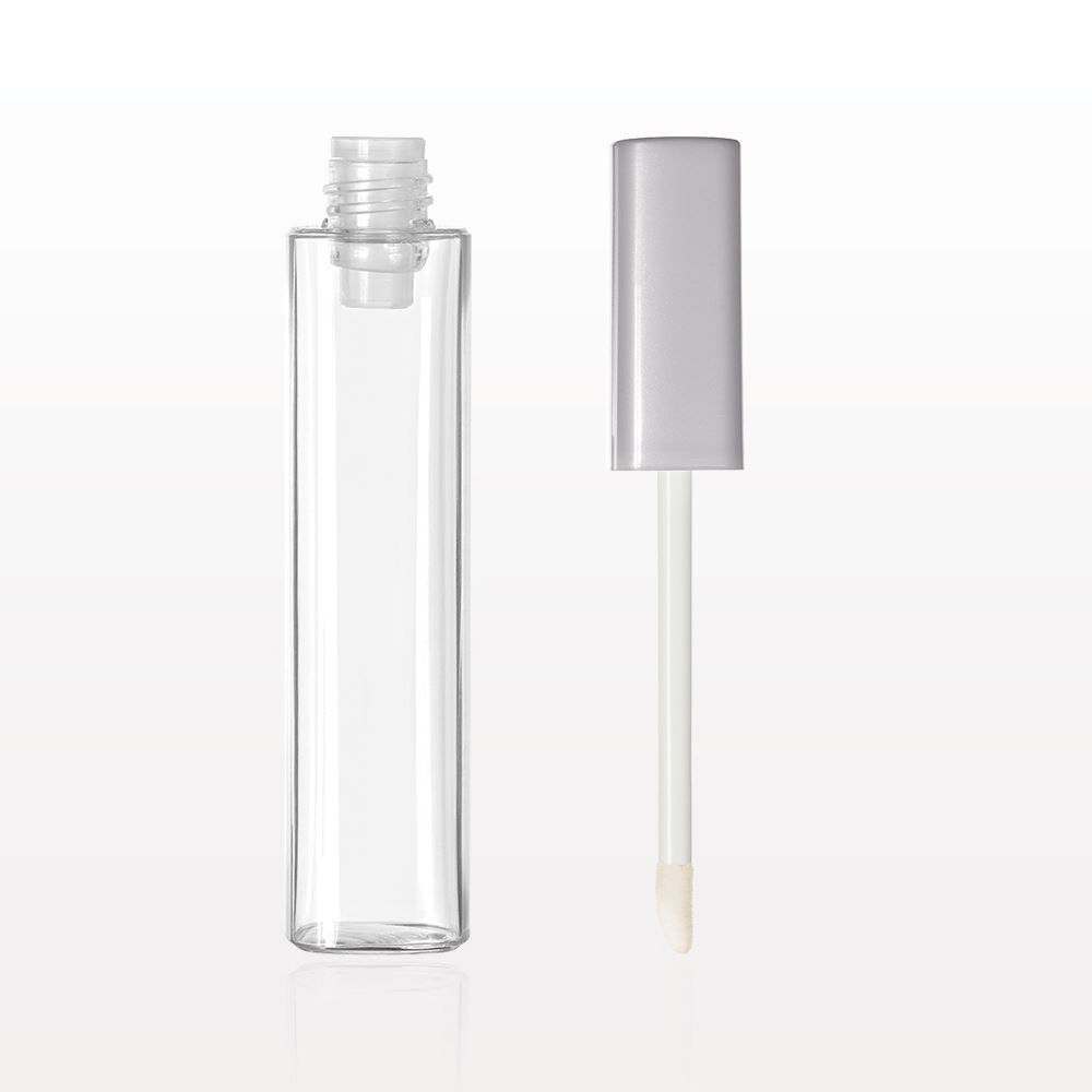 Square Vial with Flocked Doe Foot Lip Gloss Applicator Cap & Wiper